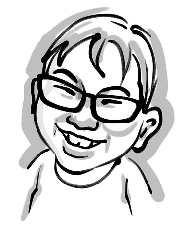 Jiale Zen Brush caricature