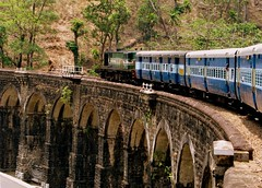 Riding into history... (Jay fotografia) Tags: india tourism kerala viaduct journey kollam trainspotting ecotourism punalur indianrailways irfca thenmala sengottai jayasankarmadhavadas aariyankavuviaduct
