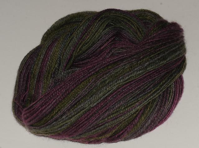 Håndspunnet garn - Heathered BFL, Enchanted - 230 meter + 112 gram kjedetvunnet, fra Greenwood Fiberworks IMG_4249
