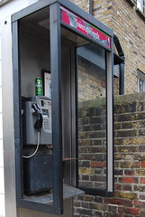 Carlsberg don't do phone booths.. (roboxley) Tags: old london broken beer booth phone box telephone can rusted damaged vandalised