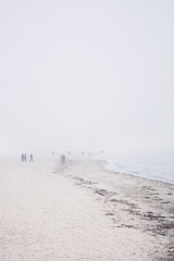 lost in fog (mr.naizz) Tags: sea people beach weather fog canon lost eos sand warnemnde nebel bright baltic ostsee diesig 400d