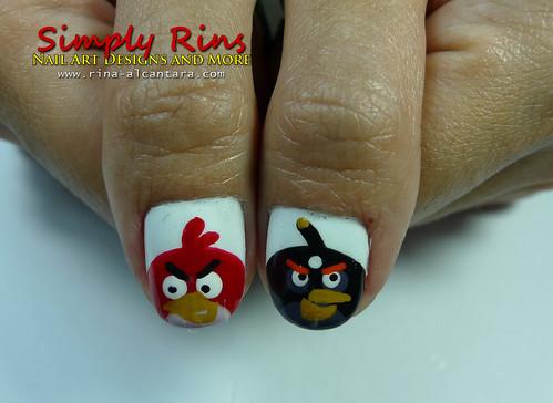 Nail Art Angry Birds 02