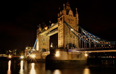 Tower Bridge (Stacey Price (Roxy_77)) Tags: uk longexposure nightphotography bridge reflection london towerbridge starburst towerbridgelondon towerbridgelondonatnight londonunitedkingdon