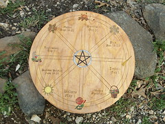 Celtic Wheel of the Year Altar Plate (dragonoak) Tags: altar celtic witchcraft paton wheeloftheyearwicca