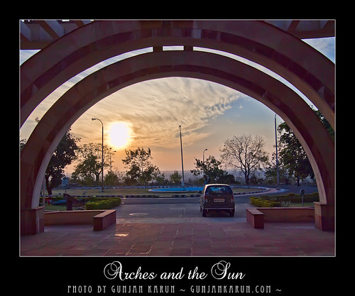 Arches and the sun