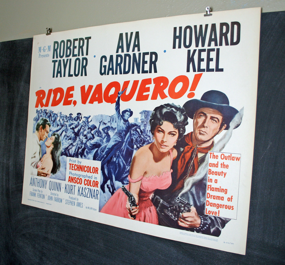 Vintage Original Ride Vaquero Western Movie Poster