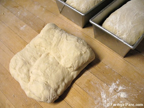 How to shape bread dough into sandwich loaves 1