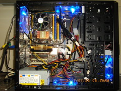 Flash pic - Case open powered (jenifur_c) Tags: thermaltake blueled thunderblade v3blackedition