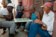 Street checkers, Centro Habana