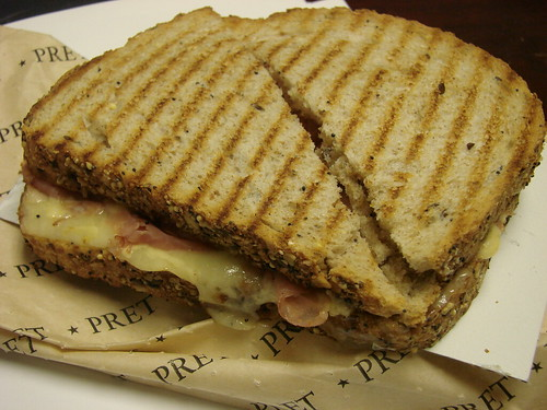 Pret Ham and Cheese Toastie