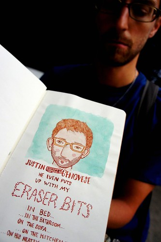 A VERY LONG JOURNEY Justin Genovese and the Eraser Bits