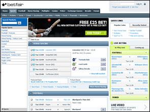 Betfair Sportsbook Home