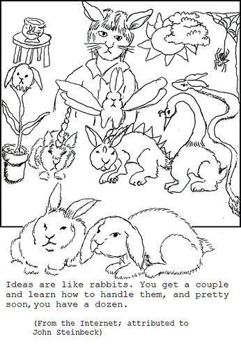 dozen plot bunnies naart