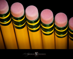 2011 Our Daily Challenge 25/365 - Side By Side (Loren Zemlicka) Tags: new wood pink light shadow macro green yellow metal pencil photography photo image eraser january picture row rubber line 365 sidebyside number2 no2 unused odc aligned 2011 canoneos5d canonef100mmf28macrousm dixonticonderoga creativetabletop lorenzemlicka ourdailychallenge