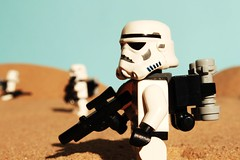 """They landed here somewhere."" (Blockaderunner) Tags: star lego stormtrooper wars tatooine sandtrooper"