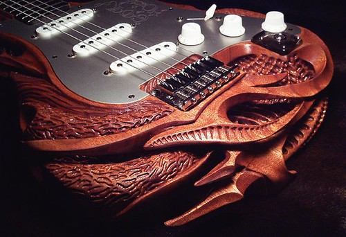 Strat Carving Closeup