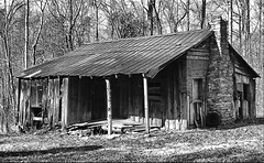 home sweet home_b&w (thahawk) Tags: old blackandwhite bw house building abandoned blanco sc rural casa ruins decay empty country negro rustic weathered shack desolate deserted ramshackle tinroof dilapidated ragged crumbling rundown disrepair yorkcounty timeworn flickraward thahawk