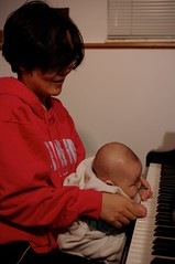 Mom and Baby practicing