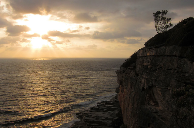 Sunrise at Shelly beach, Manly, NSW, Australia, 28/1/11