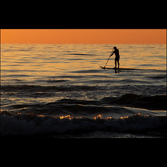 infinity (leuntje (on tour)) Tags: sunset netherlands zonsondergang noordzee explore northsea katwijk frontpage silhouet paddlesurfing paddleboarding standuppaddlesurfing gettyimagesbeneluxq2