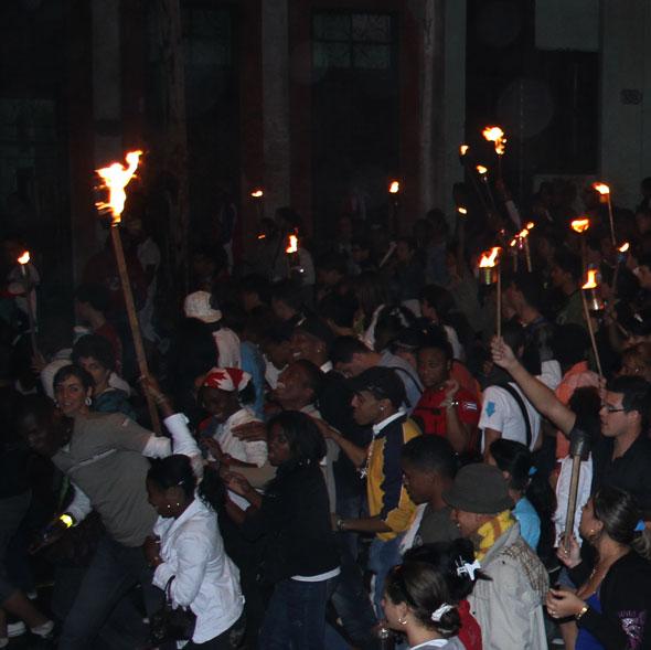 Marchando en llamas...