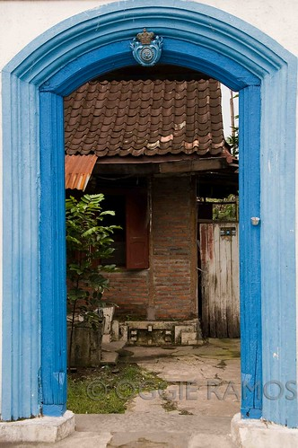Indonesia - Solo Kraton Behind the Blue Doorway