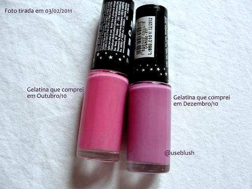Gelatina quase rosa