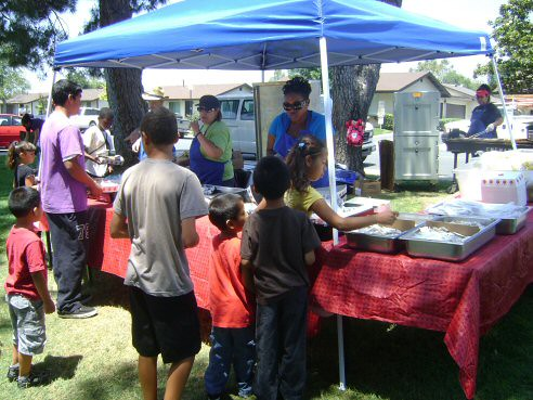 Riverside kids enjoy a free summer BBQ