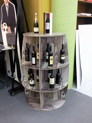 X-Board wine barrel display