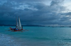 Boracay Island, Philippines - Stormy day @White Beach (GlobeTrotter 2000) Tags: sea white storm beach clouds sailboat island boat sand cloudy philippines stormy scuba diving tropical sail snorkelling boracay visayas caticlan pristine bangka panay diniwid