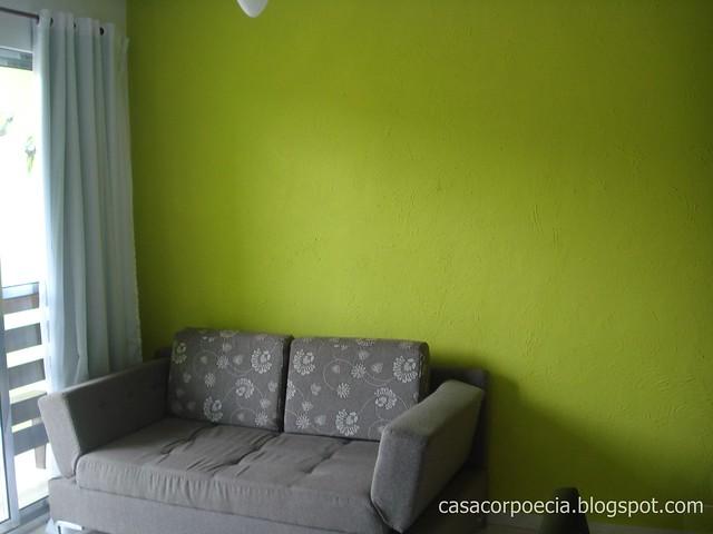 Sala De Estar Pintada De Verde ~ minha sala e a textura  Casa Corpo e Ci