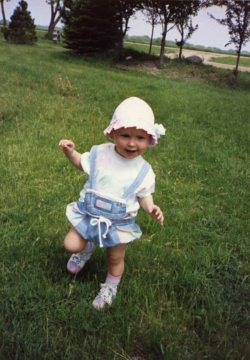 Christina, my little dancer, at age 1, 1991.