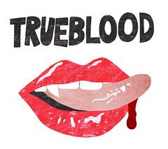 true blood illustration (elvia montemayor) Tags: tongue illustration logo tv blood trueblood