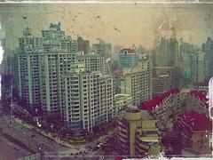 View from Hotel (weizor) Tags: china city light urban window fog skyline cn asia cityscape shanghai foggy dirty dirtywindow