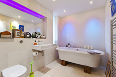 Thames Reach Development Designers Show Flat, (Snook Photograph ( http://chrissnookphotography.co) Tags: bathroom lights bath sink londoninteriordesigninteriorscolourviewsthamesreachdesignercanonpropertycanon7drealestateneon