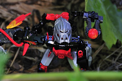 Drilldozer - the Bad Guy (sysiphusd) Tags: toys robot lego bionicle heros playingwithtoys toysinaction legotoys herofactory nikond300s