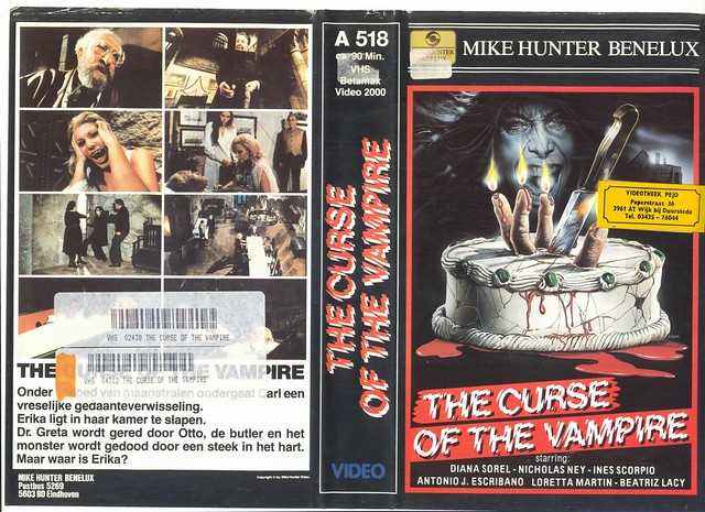 The Curse Of The Vampire (VHS Box Art)