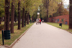 Park life. (rae.joanna) Tags: travel men tourism photography still europe quiet silent path capital picture documentary september macedonia guide interest 2010 waliking skopje