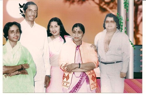 haji mastan and sona with asha bhosle and babapi laheri - a
