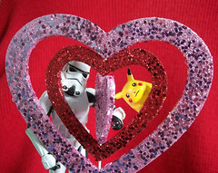 Heart of Hearts (darkkittykat) Tags: pink red love hearts toy toys star shiny day heart action valentine sparkle figure stormtrooper pikachu pokemon wars february littlest 2011 happyvalentinesday tk7707 littlestpikachu