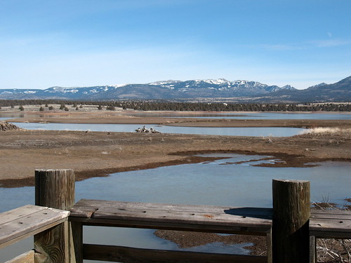 Dorris Reservoir and Warner Mountains
