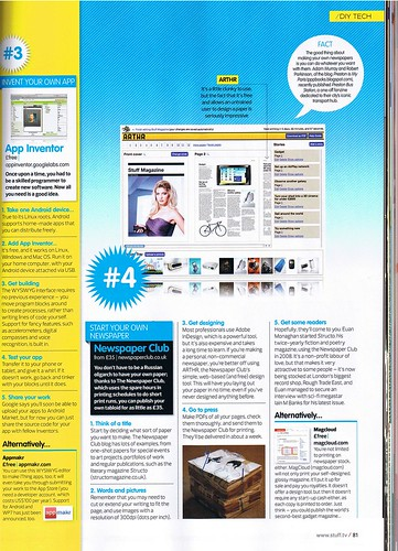 Newspaper Club reviewed in Stuff Magazine