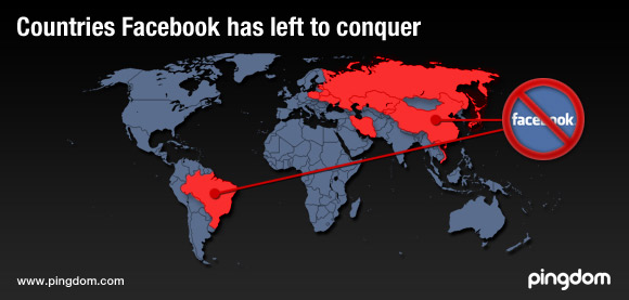 Countries Facebook has left to conquer