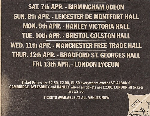 03/24/79 - 04/13/79 Motorhead/Girlschool Tour Ad (Bottom)