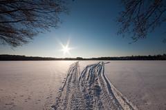 Winter lake (mikkohei) Tags: blue winter sky lake snow backlight canon suomi finland landscape view sigma 1020mm lumi talvi 1020 maisema jrvi sininen hmeenlinna taivas hme vastavalo sigma1020 50d luminen