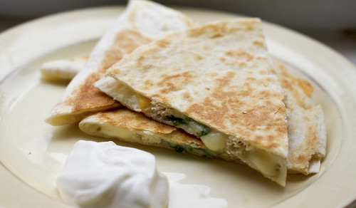 peach pepper jack quesadillas