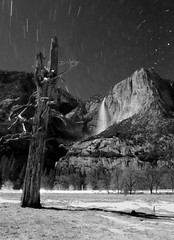 Upper Yosemite Fall Star Trail, Yosemite, CA, USA