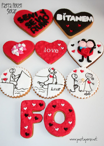 Sevgililer günü kurabiye set