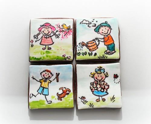 Child art cookies
