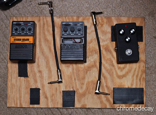 pedalboard before repairs/positioning